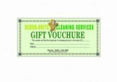 Scrub-Brite Gift Vouchers Are Now Available